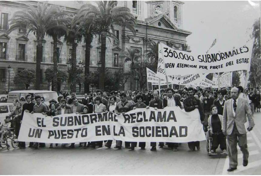 manifestation organisée le 27 avril 1978 à Valence par l'ASPRONA